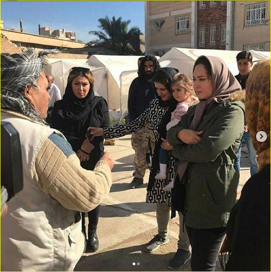 نیکی کریمی زلزله کرمانشاه