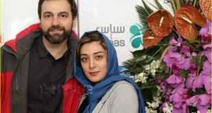 آرش مجیدی و همسرش