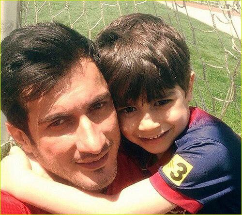 مجید غلام نژاد و پسرش امیرسام