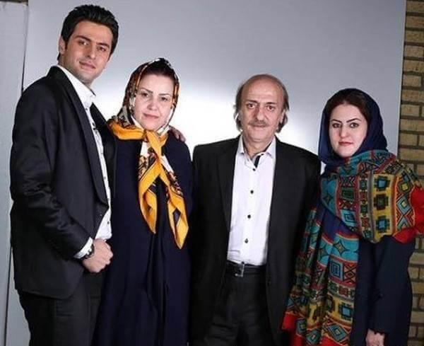 علی ضیا با خانواده - سید حسین ضیا - مادر علی ضیا - شیما ضیا - شهره احدیت - علی ضیا و مادرش