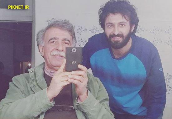 حسام محمودی و همایون اسعدیان در پشت صحنه سریال لحظه گرگ و میش