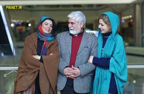 عاطفه رضوی و همسر و دخترش