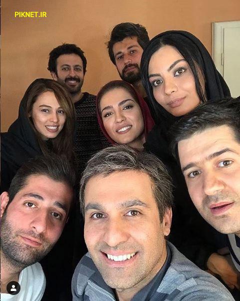مونا کرمی و دورهمی بازیگران سریال دلدار