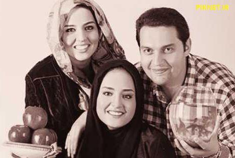 سارا محمدی به همراه خواهر و برادرش