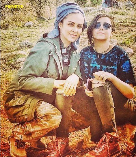 شیوا ابراهیمی و دخترش
