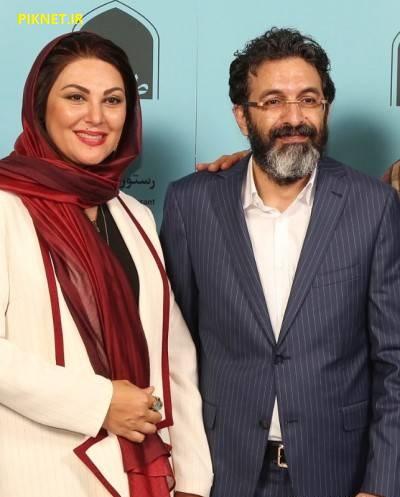 لاله اسکنری و همسرش ساسان فیروزی