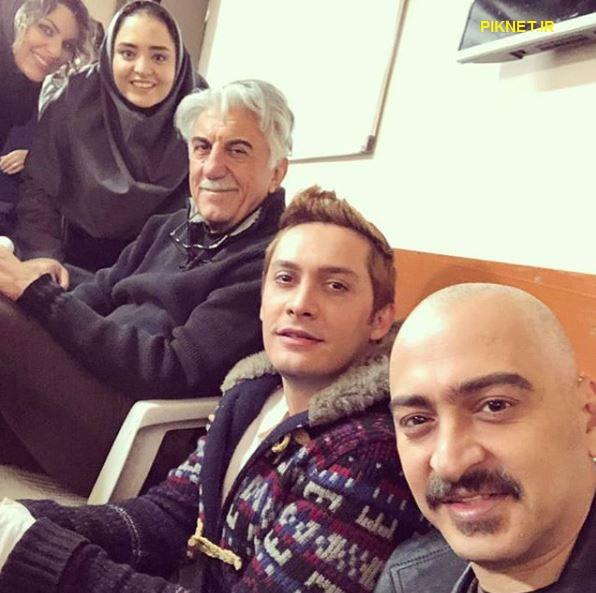 سعید رضایی به همراه محمدرضا هاشمی، رضا کیانیان و نرگس محمدی در سریال بوی باران