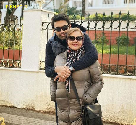 شهاب شادابی به همراه مادرش