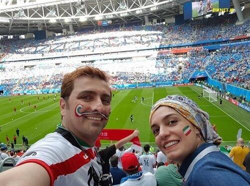 الیکا عبدالرزاقی همراه با همسرش