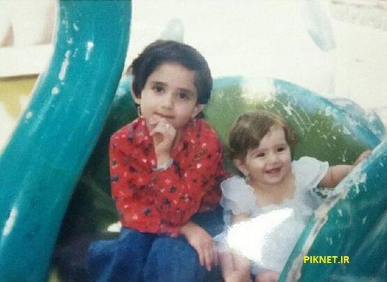 عکسی از دوران کودکی آسو پاشاپور و خواهرش