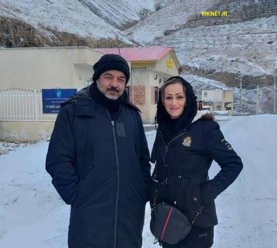 سعید آقاخانی و همسرش گلرخ حقیقی