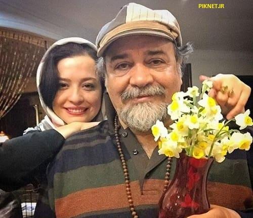 محمدرضا شریفی نیا به همراه دخترش
