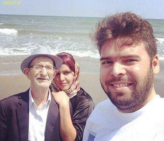احمد پورمخبر به همراه دختر و پسرش