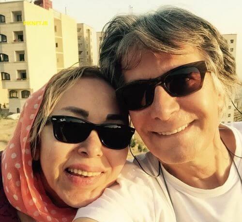 امیرحسین قهرایی و همسرش