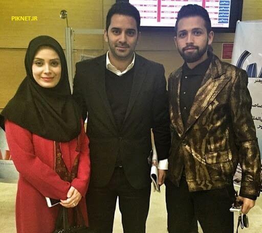 صبا راد و همسرش مرتضی علی آبادی به همراه محسن افشانی