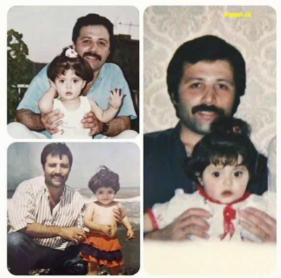 عکسی از دوران کودکی ندا عقیقی با پدرش