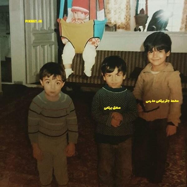 عکس دوران کودکی صادق برقعی و برادرش