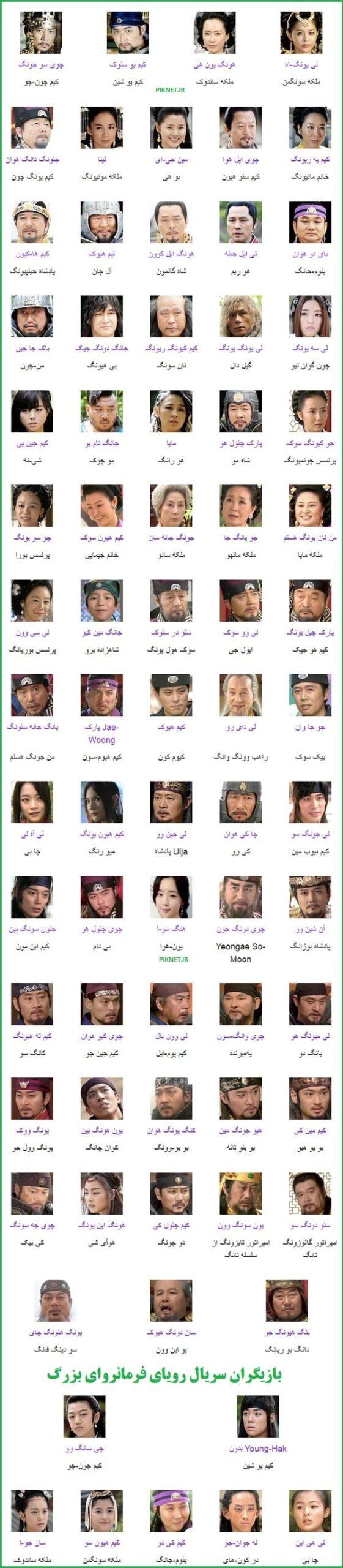 اسامی بازیگران سریال رویای فرمانروای بزرگ