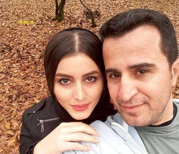 فهیمه مومنی و همسرش مهرزاد فکری